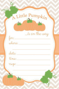 Pumpkin Baby Shower Invitations - Fill In Style (20 Count) With Envelopes