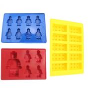 Lego Building Bricks & Minifigures Ice Cube Trays