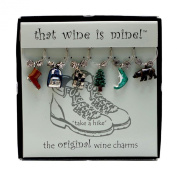 Wine Things WT-1443P Take a Hike Wine Charms, Painted