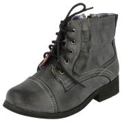 Cutie Flat Lace Up Boot with Side Frill