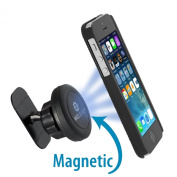 Car Mount Holder, WizGearTM Universal Stick On Dashboard Magnetic Car Mount Holder, for Cell Phones and Mini Tablets with Fast Swift-SnapTM Technology, Magnetic Cell Phone Mount {New Release - It Will Not Block the Air Vent or Windshield!}