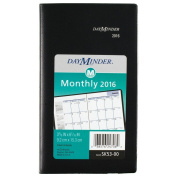 DayMinder Monthly Planner 2016, 9.2cm x 15cm Page Size, Black