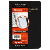 AT-A-GLANCE Weekly Appointment Book 2016, 12cm x 20cm , Black