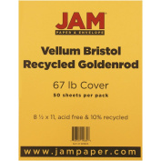 JAM Paper® 8 1/2 x 11 Vellum Cover - 30kg Goldenrod Orange Cardstock - 50 Sheets per Pack