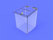 Clear Acrylic Plexiglass Church Donation Box Suggestion Ballot Fund Raising11460