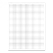 Ampad Efficiency Quadrille Pad, 8-1/2 x 11, White, 5x5, 50 Sheets per Pad, 10 Pads per Pack