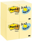 Post-it Notes Value Pack, 3.8cm x 5.1cm , Canary Yellow, 24-Pads/Pack