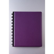 M by Staples Arc Customizable Leather Notebook System, Purple, 23cm - 1.3cm x 28cm - 1.3cm