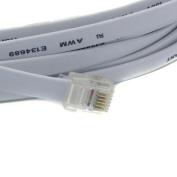 RiteAV - 300FT ( 91.5M ) RJ12/M to RJ12/M 6P6C Straight for Data Phone Line Cord - Grey