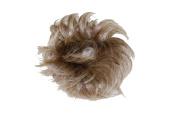 GIZZY® Ladies Girls Medium Lt Brown With Blonde Highlights Fake Hair Scrunchy on a Ponio Band