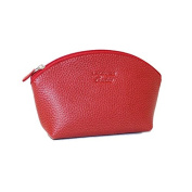 Laurige Leather Cosmetic Bag - Red