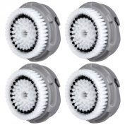 4x E-Cron® Brush Heads. Replacement for Clarisonic Normal Facial Cleansing. Compatible with Mia 1, 2, 3(Aria), SMART Profile, Alpha Fit, Plus, Sonic Radiance.