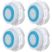 4x E-Cron® Brush Heads. Replacement for Clarisonic Deep Pore Facial Cleansing. Compatible with Mia 1, 2, 3(Aria), SMART Profile, Alpha Fit, Plus, Sonic Radiance.