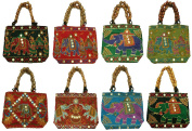 Silkroude Women's Indian Vintage Hand Bag Christmas 10 Pcs Lot