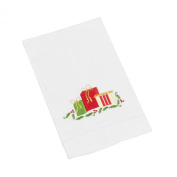SARO LIFESTYLE XM213 4-Piece Xmas Gift Box Towels Set, 36cm by 60cm , White