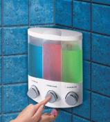 Aviva Trio Soap - Shampoo - Gel Dispenser - White by Aviva