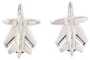 Silver Tornado Plane Cufflinks by David Van Hagen