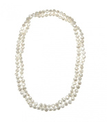 Lustrous - White Baroque Pearl Long Necklace