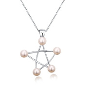 Lustrous - White Pearl Star Sterling Silver Pendant