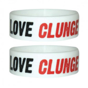 Fun Poster I Love Clunge for collectors Silicone Bracelet-Id-Width: 24 MM, diameter