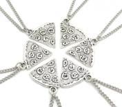 6 Pizza Slices Necklaces - Friendship Necklaces