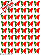 48 X PRE-CUT PORTUGUESE FLAG BUTTERFLY EDIBLE RICE / WAFER PAPER CAKE TOPPERS BIRTHDAY PARTY DECORATION