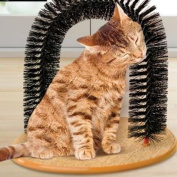 New Art Pet Cat Arch Bristles Kitten Self-Groomer Massager Scratcher Catnip Toy