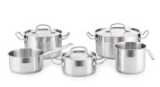 Quid Cook Basika Set of 5 Stainless Steel Saucepans