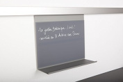 SO-TECH® / Kesseböhmer Linero MosaiQ blackboard/tablet with writable glass wall magnet clamp and tray titan grey
