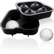 XXL Ice Ice Ball Mould for 4-4.5 CM Diameter with Silicone Ice Ball Mould, Ice Cube Tray Mould, Silicone Ice Ball Ice Cube Tray