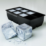 #1 Best Ice Cube Trays Moulds - Giant 5.1cm Ice Cube Silicone Tray - Jumbo Whiskey and Cocktail Large Cubes Size