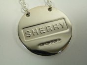 NEW Sterling Silver Round DECANTER / Wine Label - SHERRY - Boxed