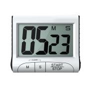 White Portable Magnetic Digital Kitchen Timer