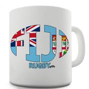Twisted Envy Fiji Rugby Ball Flag Ceramic Mug