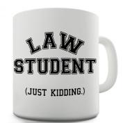 Twisted Envy Law Student Just Kidding Ceramic Mug