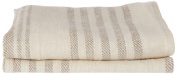 LinenMe 33 x 50 cm Linen Linum Hand and Guest Towels, Set of 2, Cream