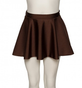 Girls Ladies Chocolate Brown Shiny Lycra Ballet Dance Circular Skirt By Katz Dancewear KDSK01