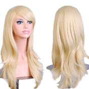 70cm Women's Lady Full Hair Curly Wig New Fashion Long Big Wavy Hair Heat Resistant Wig for Cosplay Party Costume w Tracking No.