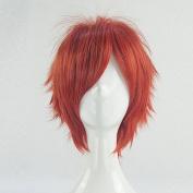 Gekkan Shojo Nozaki-kun Mikoshiba Mikoto Orange Red Short Cosplay Wig + Free Wig Cap