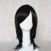 Haikyuu!! Kiyoko Shimizu Black Short Cosplay Wig + Free Wig Cap