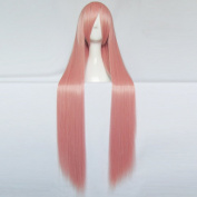 Momoi Satsuki Kuroko's Basketball Light Pink 100CM Long Cosplay Party Wig + Free Wig Cap