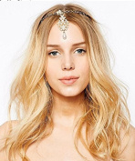 Women Gold Plated Crown Hairpin Indian Style Bridal Sticks Ornaments Accessory