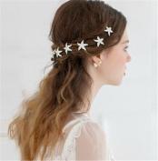 Lefox 6pcs Wedding Bridal Silver Crystal Rhinestone Starfish Hair Pins Clip Bridesmaid #26