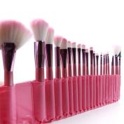 22pcs Superior Professional Soft Cosmetic Makeup Brush Set Pink + Pouch Bag Case