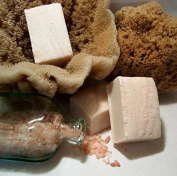Indigo Bath & Body Bulgarian Lavender Himalayan Pink Salt Spa Bar / All Natural Handmade Soap