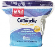 Cottonelle FreshCare Flushable Cleansing Cloths Refill, 168 sheets