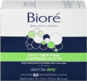 Biore Daily Deep Pore Cleansing Cloth, 60 Count