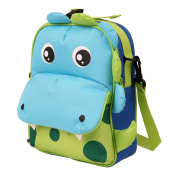 Yodo Playful Kids Lunch Boxes 3-Way Carry Bag and Toddler Backpack, Safe Insulated Lining, Large Front Quick Access Pouch for Snacks or Knickknacks, Kids Age 3+, Dragon