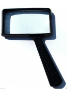 4x Rectangle Magnifying Glass 5.1cm x 10cm size for reading TO97