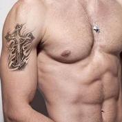 Kotbs Temporary Tattoo Stickers Waterproof Men Arm Leg Fake Transfer Tattoos Cross Designs - My Only Love